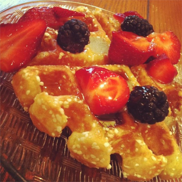 Waffles belgas liege com receita de açúcar de pérola
