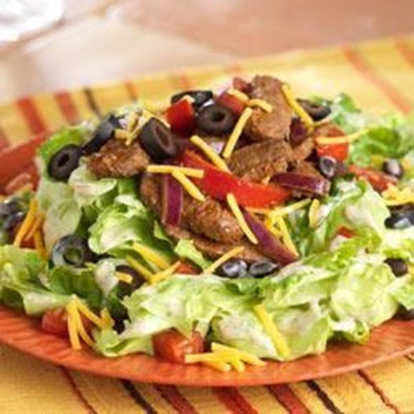 Receita de Salada de Bife Fajita