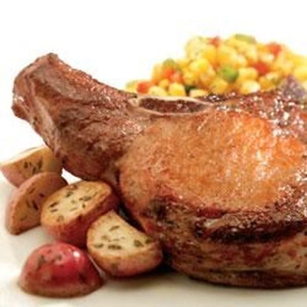 Receita de Costeletas de Porco Grelhadas e Cebola