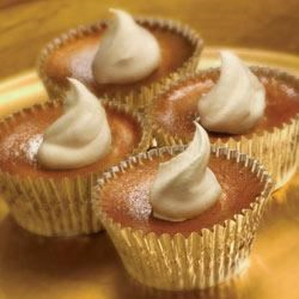 Receita individual de tortas de abóbora