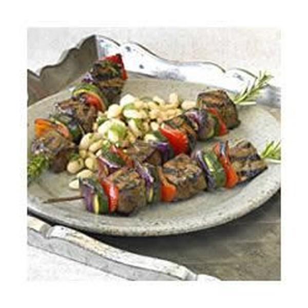 Receita de Kabobs de Carne de Alecrim Teriyaki