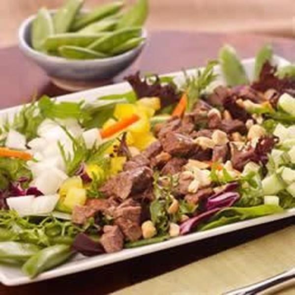 Receita de Salada de Gengibre Picante e Snap Pea