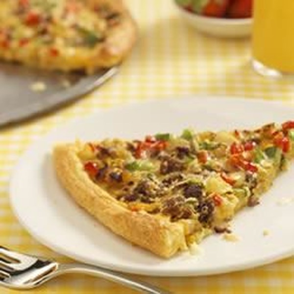 Receita de Pizza de Café da Manhã de Salsicha Jimmy Dean
