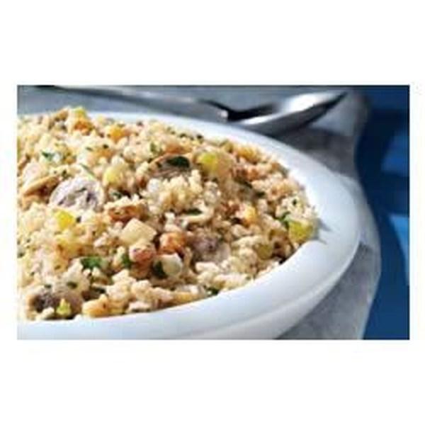 Receita rápida de arroz integral e cogumelo pilaf