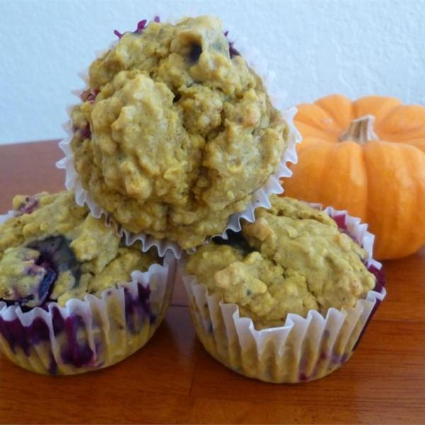 Receita de Muffins de Abóbora de Mirtilo