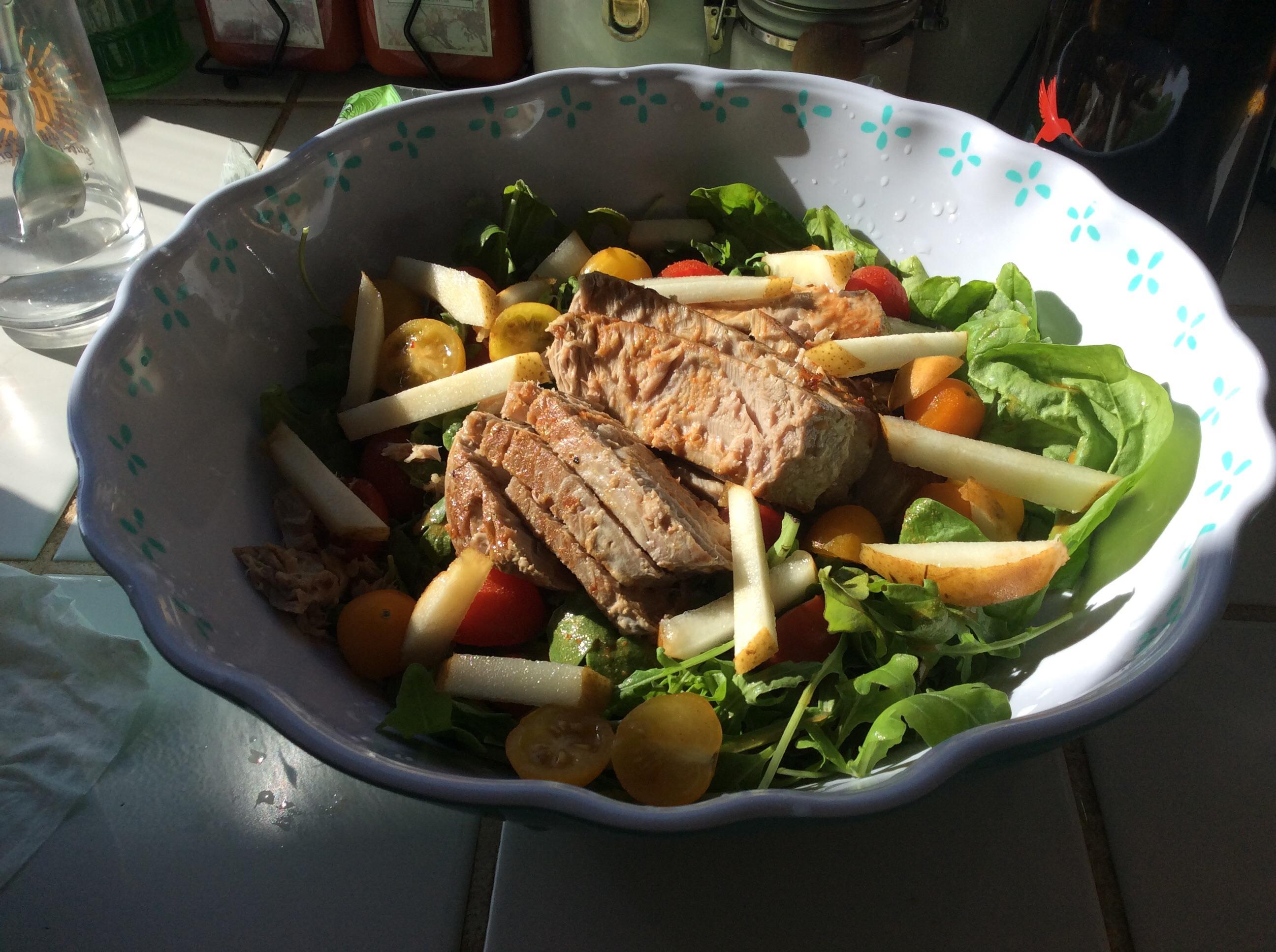Seared Ahi Atum com Agrião, Chile e Receita de Salada de Gengibre