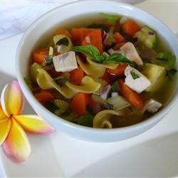 Receita de Sopa de Legumes de Frango Saudável I