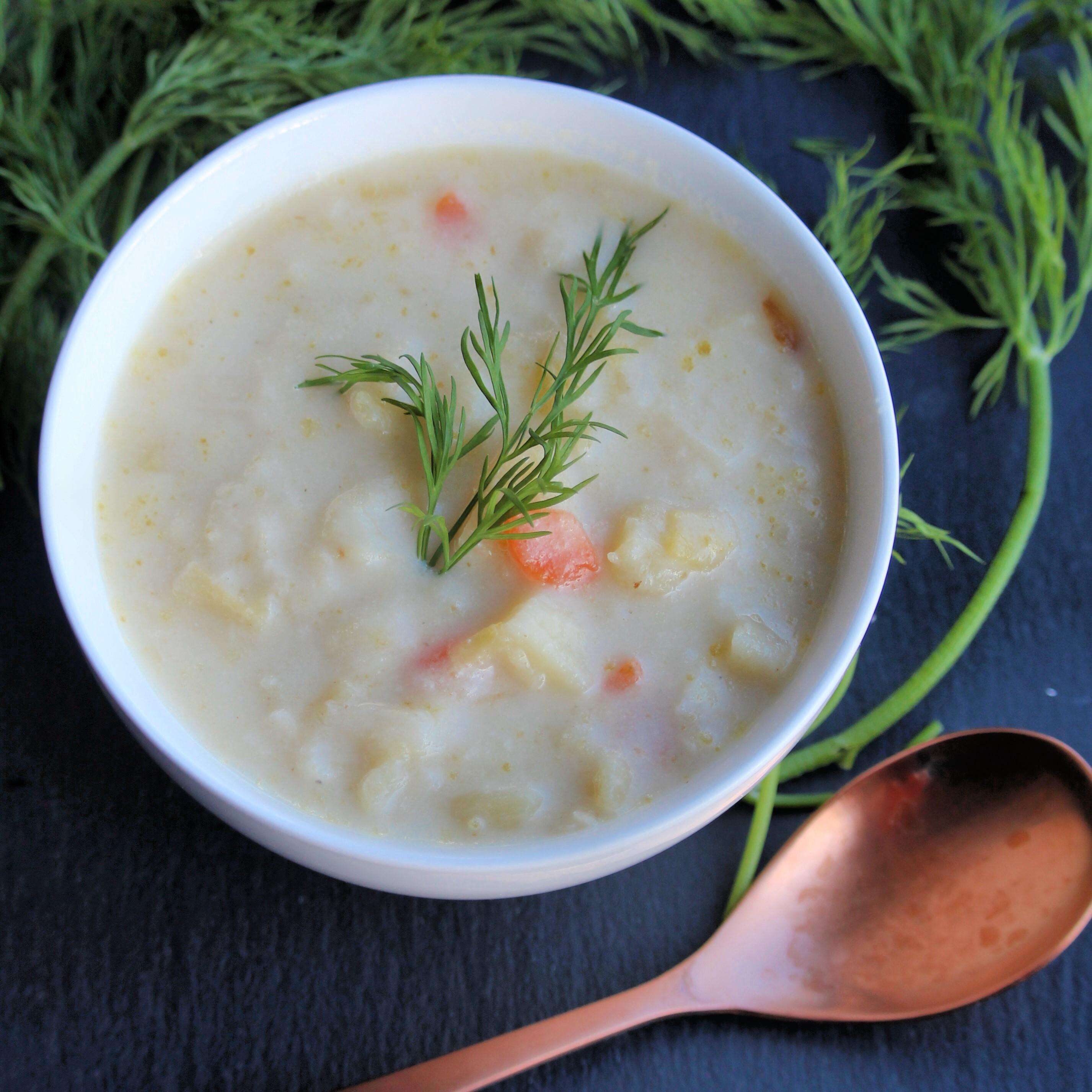 Receita de Alho-poró vegano de panela lenta e receita de sopa de batata