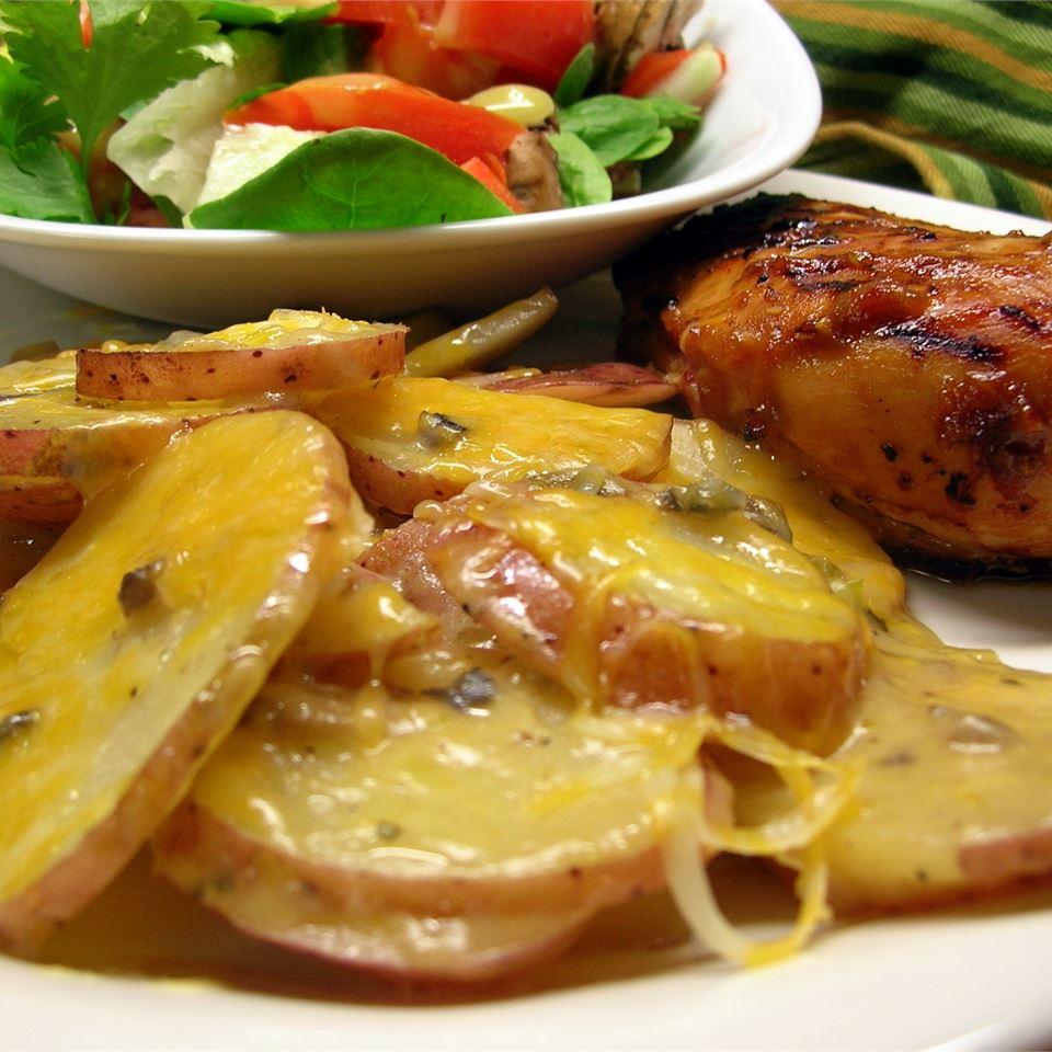 Sobre a Receita de Batatas Escalopadas de Fogo