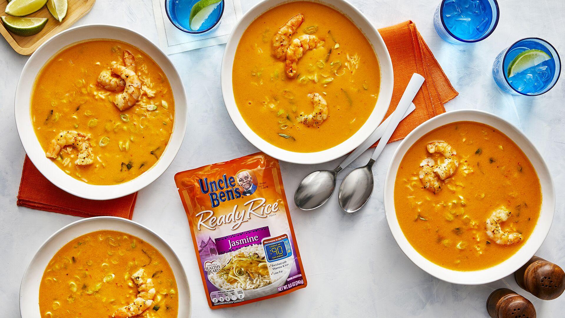 Receita de Sopa de Curry Vermelho Tailandês