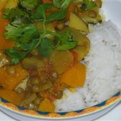 Receita de Curry de Abóbora com Lentilhas e Maçãs