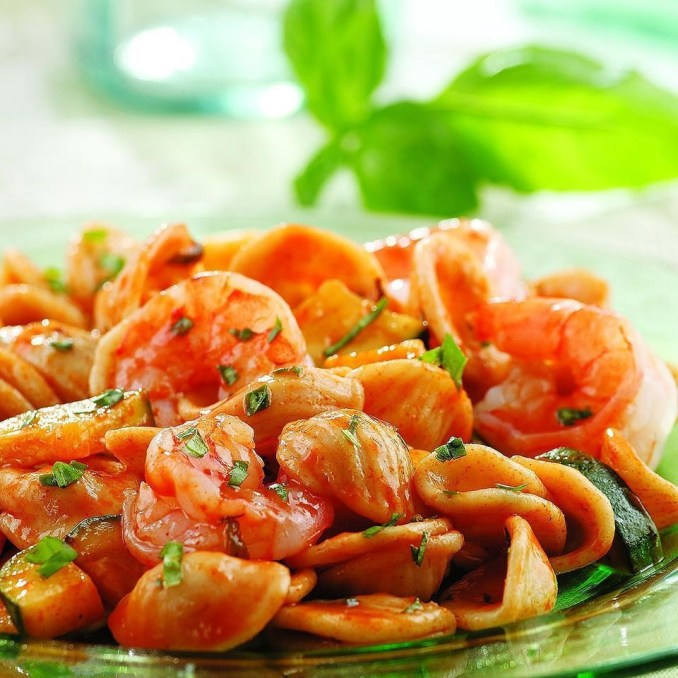 Basil, Shrimp & Zucchini Pasta Recipe - EatingWell
