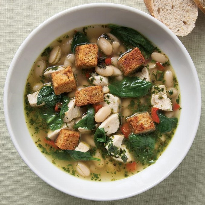 Chicken & Spinach Soup with Fresh Pesto Recipe - EatingWell