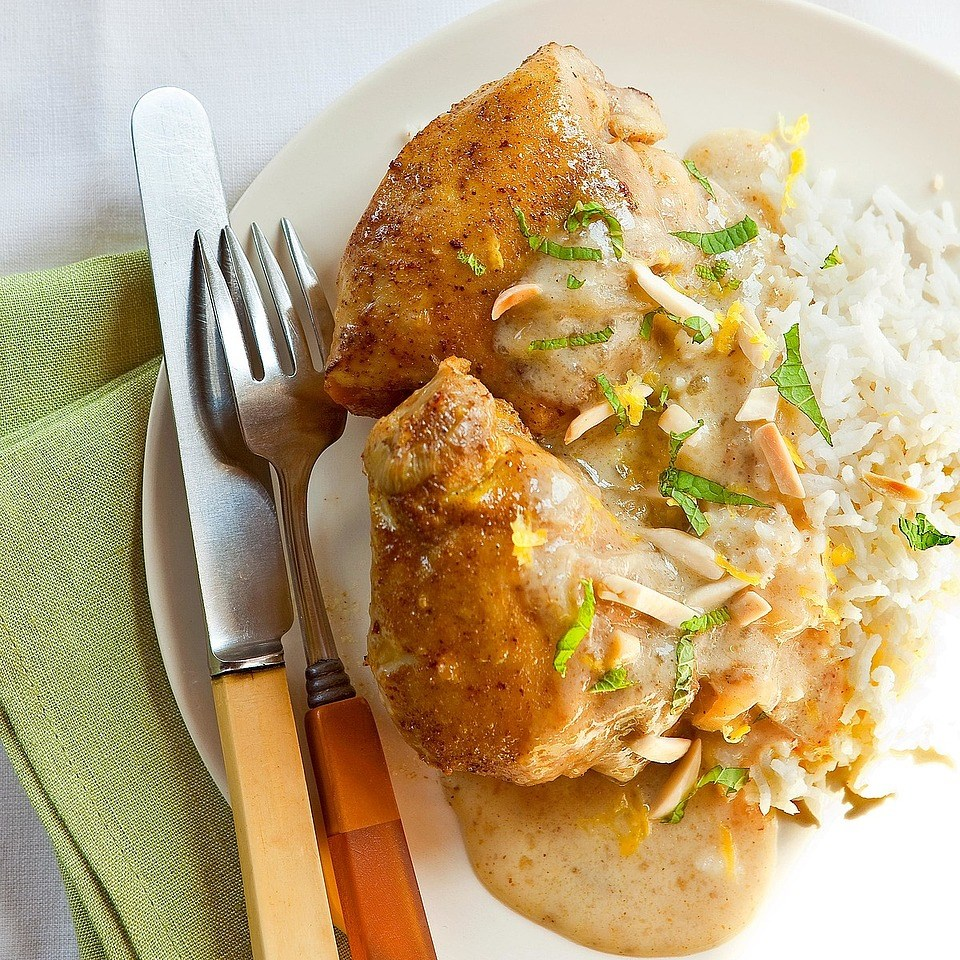 Indian-Spiced Chicken Thighs Recipe - EatingWell
