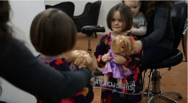 Girl And Doll Donate Hair To Pediatric Cancer Patients