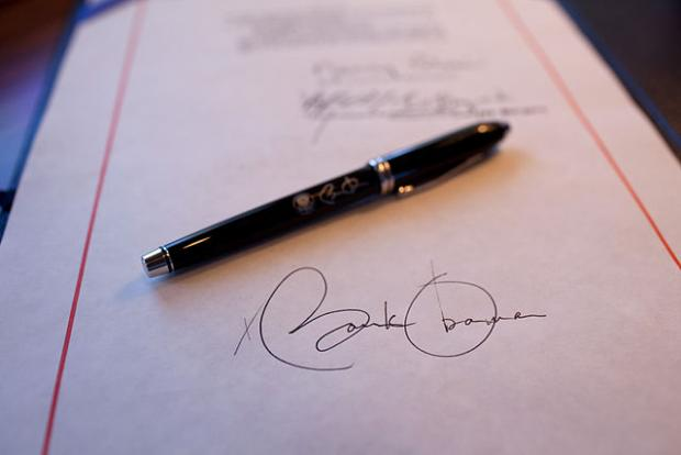 signed document