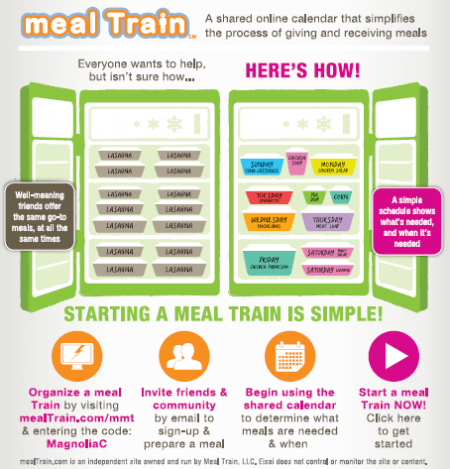 Magnolia meal Train infographic #2