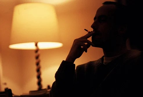 Smoking too close to bedtime may keep you up at night because tobacco is a stimulant.