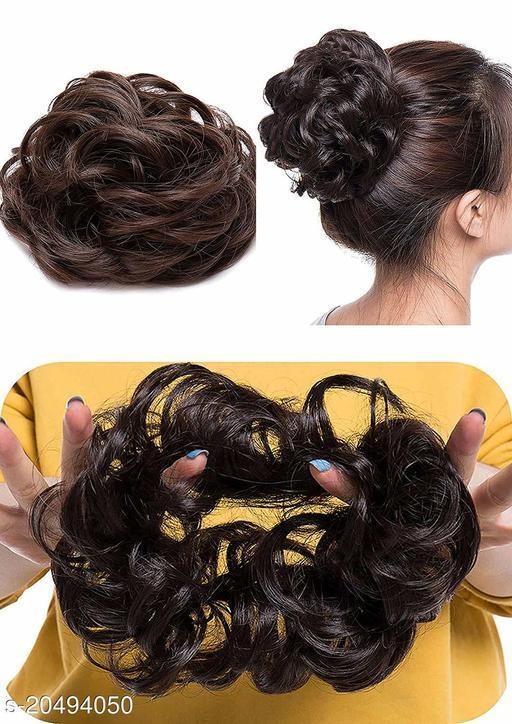 BLUSHIA Scrunchie Elastic Juda Hair Bun Synthetic Extension For Women -Set Of 1