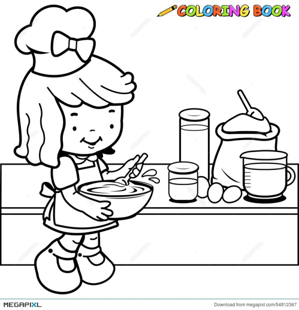 cooking coloring pages # 10
