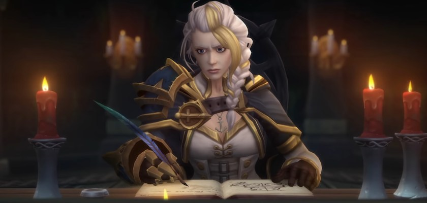 WoW Jaina Writing a book because I can