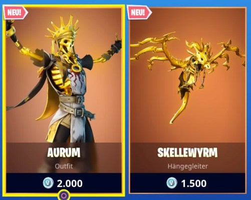 Fortnite-aurum-skin-set
