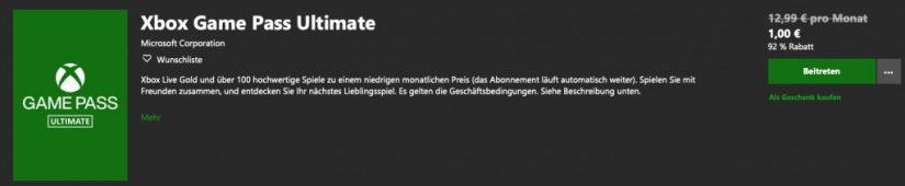 Xbox Game Pass Ultimate kaufen