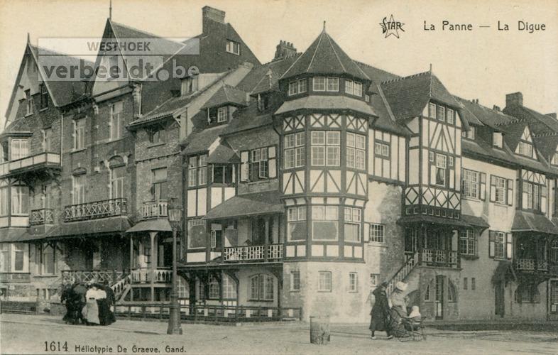 De Panne: villa's les Hirondelles, les Charmettes en la Madeleine; drie namen, één gebouw