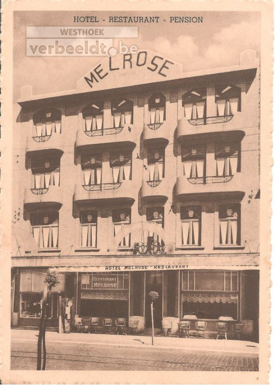 "De Panne: hotel ""Melrose """