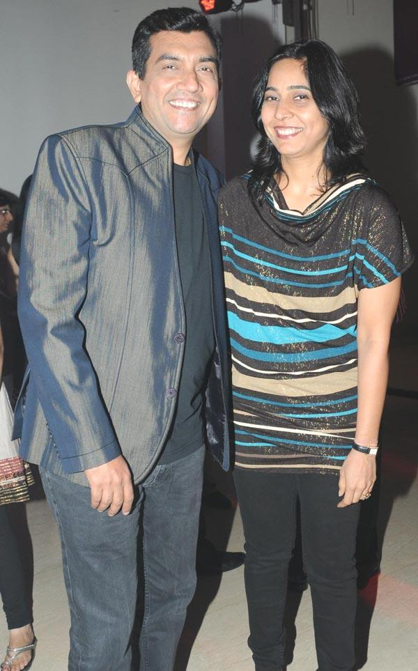 Sanjeev and Alyona Kapoor Pose at Zumba Fitness Event Launch