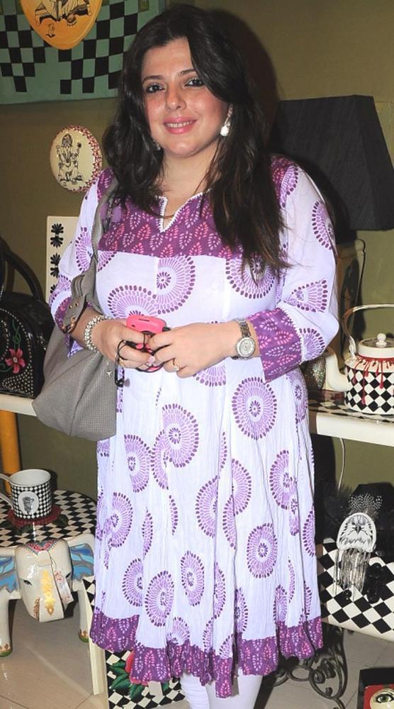 Delnaaz Paul in a Purple Mood at The Opening of Fluke Store