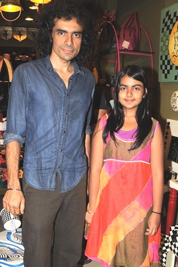 Imtiaz Ali and His Daughter at The Opening of Fluke Store