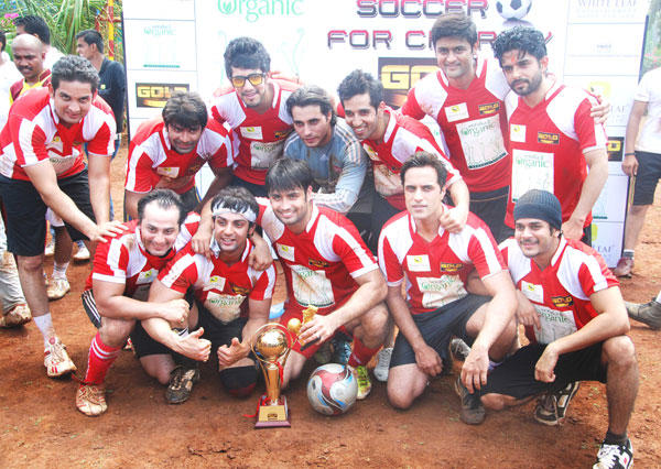 TV Serial Heartthrobs Plays Gold's Charity Soccer Match