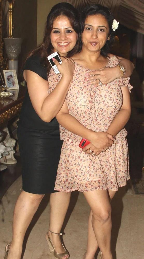 Kiran Bawa and Divya Dutta Share a Joke at Mika Singh Birthday Party
