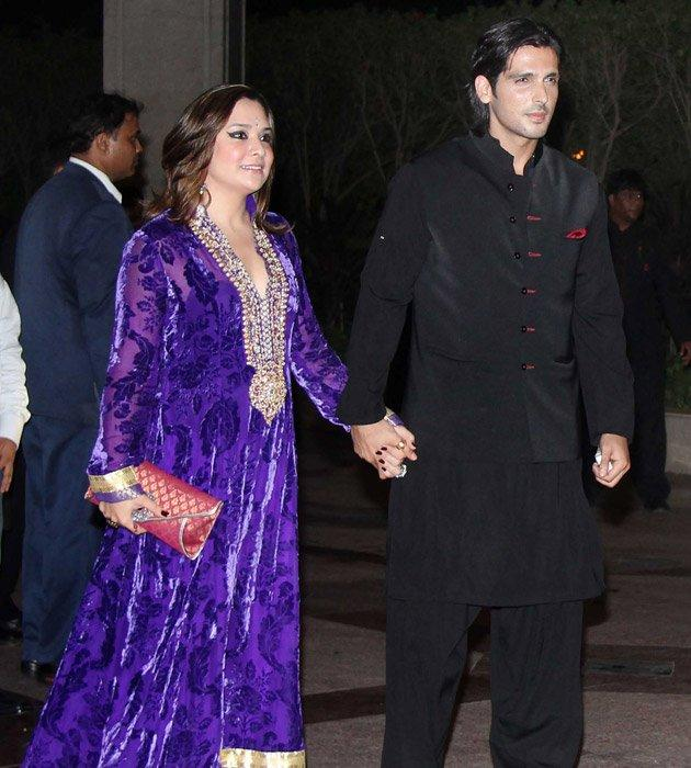 Zayed Khan and his Wife at Sangeet
