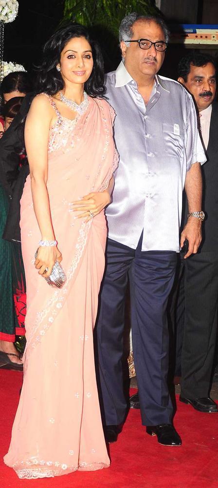 Sridevi and Boney Kapoor at Esha Deol Wedding Reception