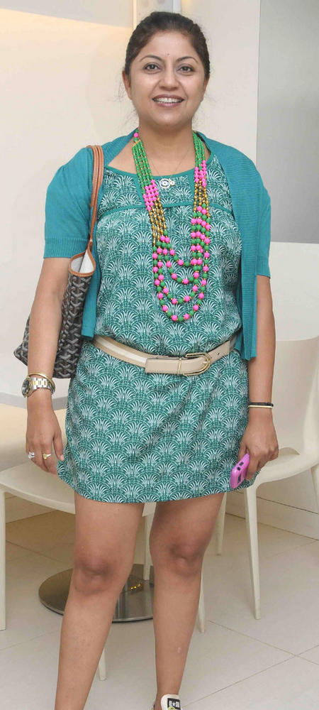 Priya Ailawadi Short Dress Smiling Pic