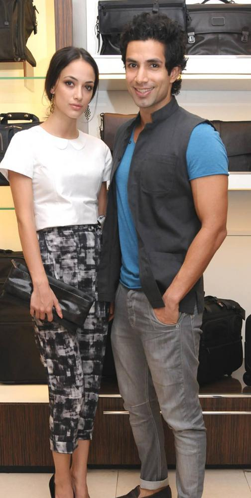 Angela Jonsson and Sahil Shroff Attended The Tumi Store Launch