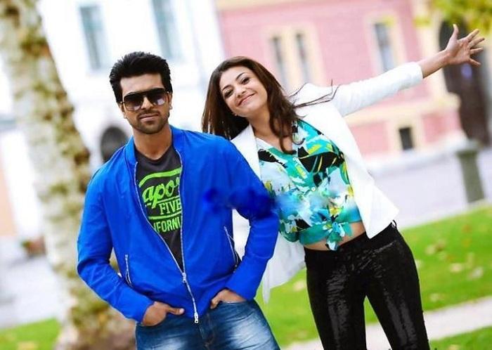 Ram Charan and Kajal Exclusive Still In Nayak Movie