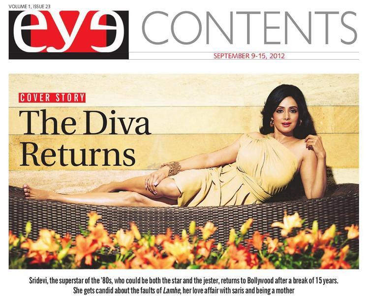 Sridevi on Eye Magazine Cover Page