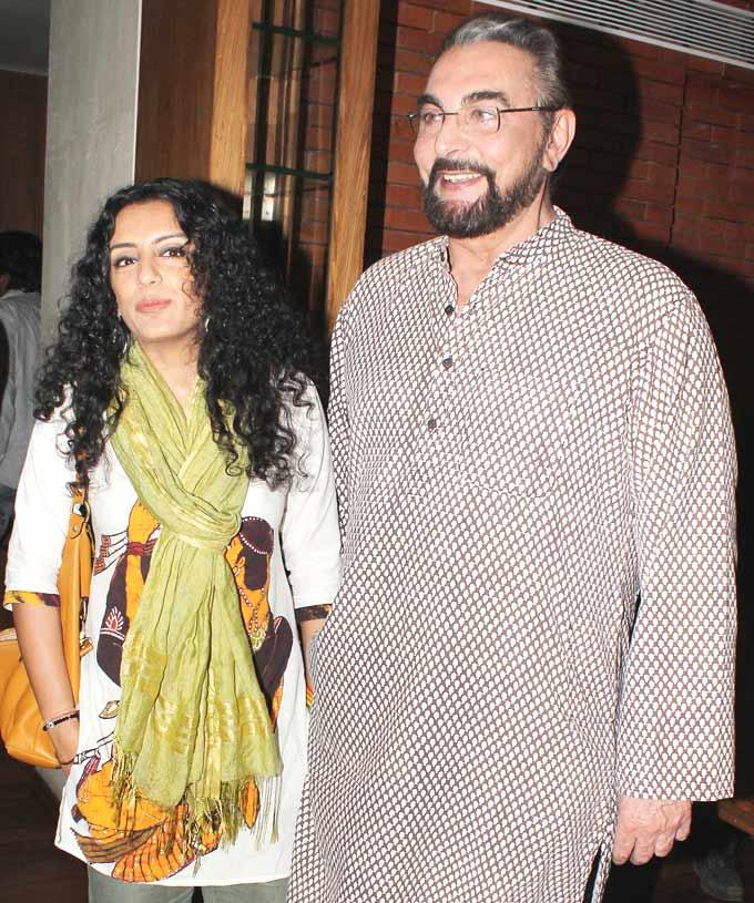 Parveen Dusanj and Kabir Bedi at The Book Launch Of The Last Love Letter