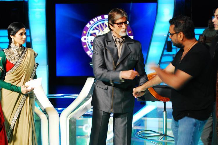 Amitabh Bachchan With English Vinglish Cast On The Sets Of KBC 6