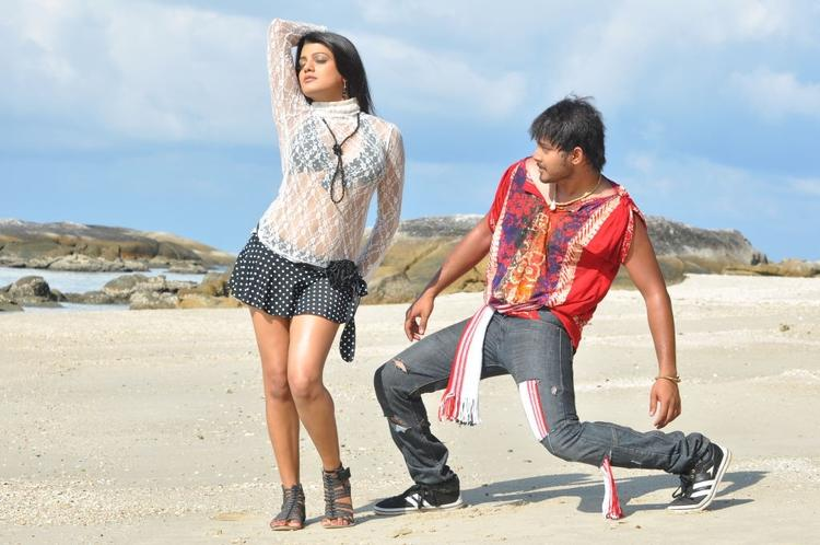 Tanish and  Tashu Kaushik Sexy Dance Still in Telugu Movie Abbai