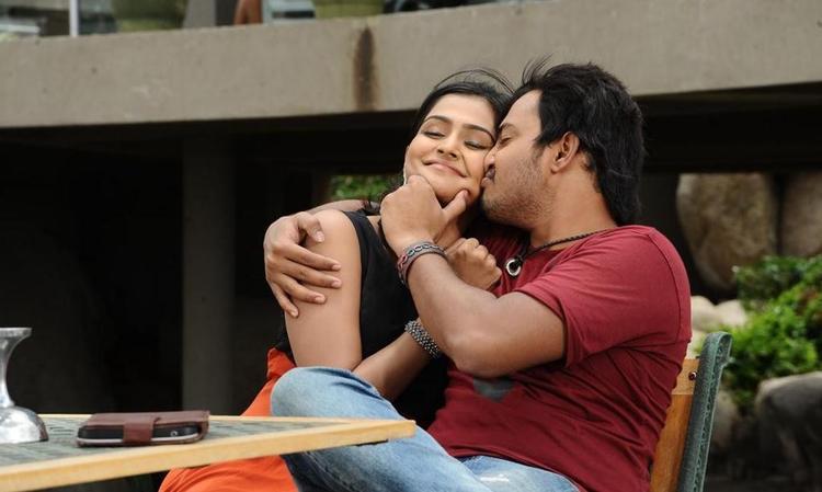 Tashu and Tanish Kiss Still From The Movie Abbai