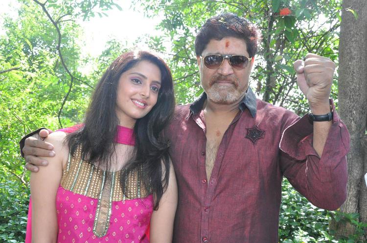 Srihari and Yashika In Bakara Telugu Movie Opening Event
