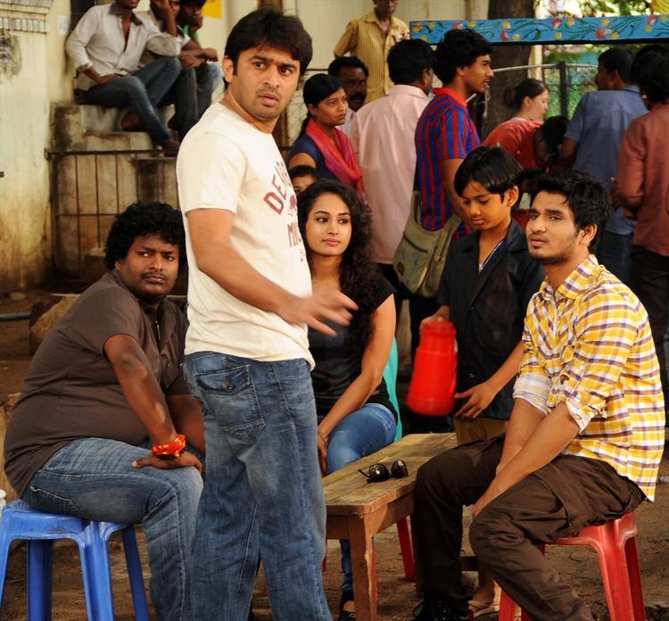 Swamy RaRa Movie Working Still