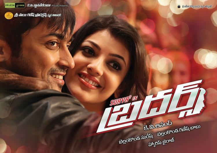 Kajal Agarwal And Surya Nice Look Poster From Brothers Movie