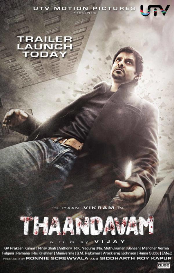 Vikram Action Pose In Thandavam Movie Poster