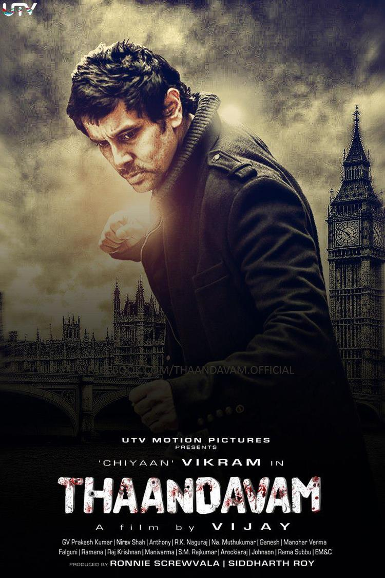Vikram Fight Pose In Thiller Movie Thandavam