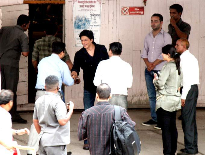 SRK Shoot For Chennai Express